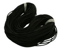 Synthetic Rubber Cord, Round, No Hole, Black, 3.0mm
