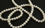 Pearls - Button / Donut - White - 4~5mm