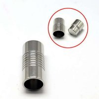 Stainless Steel Magnetic Clasp, Tube, Silver, 21x10mm - 8mm