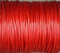 Waxcord, 2mm round, deep Red