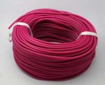 Synthetic Rubber Cord, Round, Hollow, Fuchsia, 2.0x0.5mm