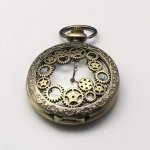 Pocket Watch Pendant, Antique Bronze, 59x46x15mm