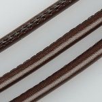 PU Leather Cord, 4mm, Coconut Brown