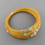 Necklace - Dark Yellow - 444.5mmx1mm