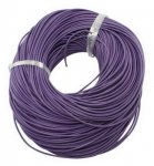 Leather cord, round, Purple, 2mm