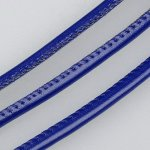 PU Leather Cord, 4mm, Dark Blue