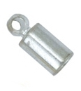 Cord Ends Silver plated Inner diameter 2,7